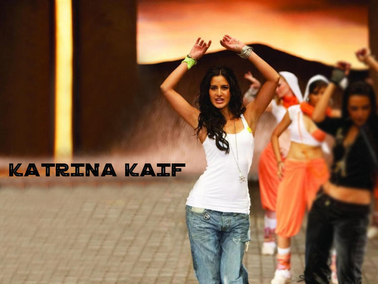 Katrina Kaif Sexy Wallpaper With White T shirt and Jeans