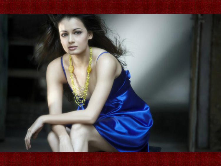 Diya Mirza In Blue Dress Sexy Pic