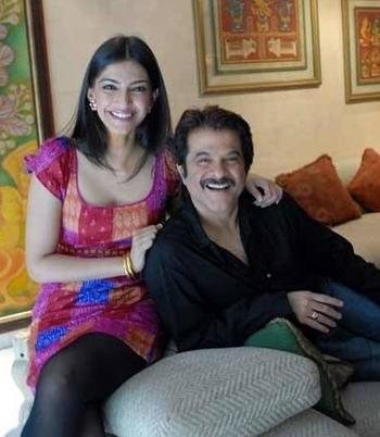 Sonam Kapoor and Anil Kapoor Sweet Still