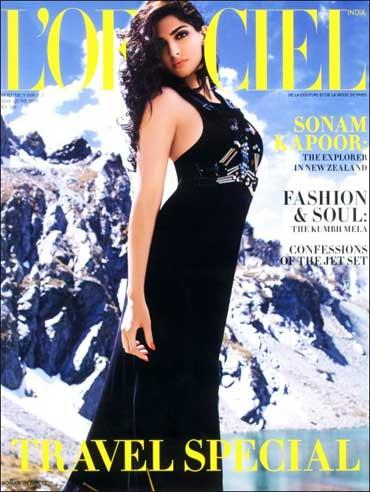 Sonam Kapoor on Cover of LOfficiel