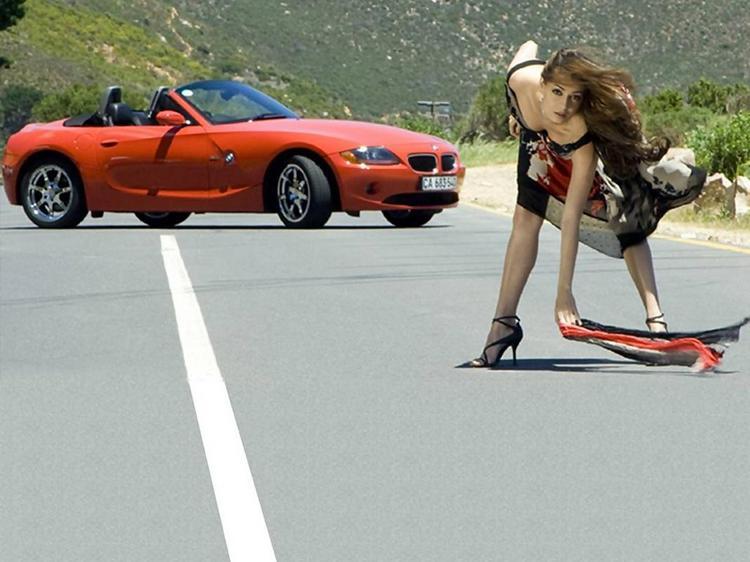 Diya Mirza Hot Sexy Still On Road