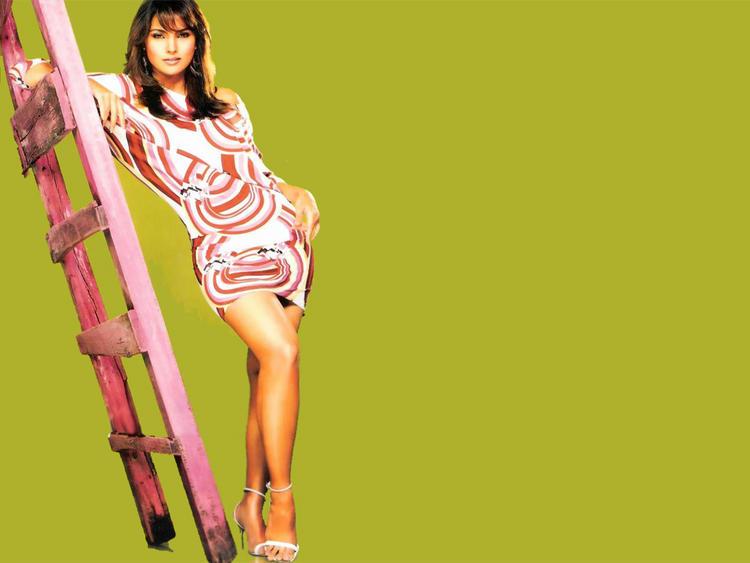 Lara Dutta Glossy Legs Pose Photo Shoot