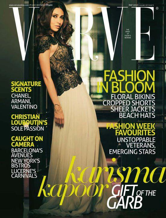Karishma Kapoor On The Cover of Verve India For May 2012
