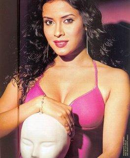 Nandana Sen Sexy Open Boobs Wallpaper