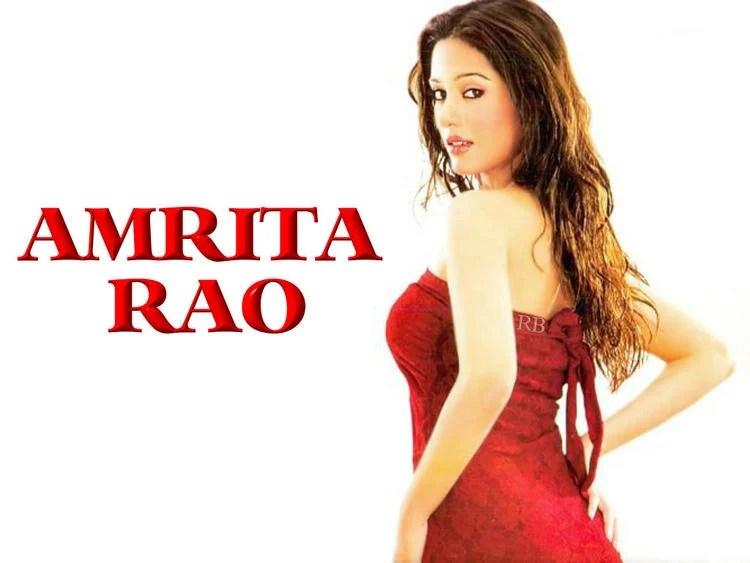 Amrita Rao Red Dress Attractive Look Wallpaper
