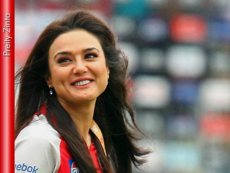 Dimple Beauty Preity Zinta Smiling Pics