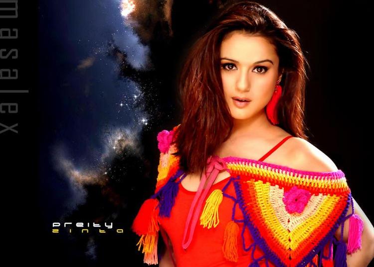 Preity Zinta Bold And Stylist Look Wallpaper
