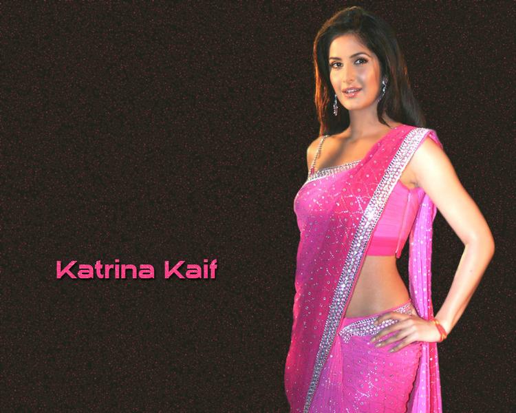 Katrina Kaif Sexy Saree Wallpaper