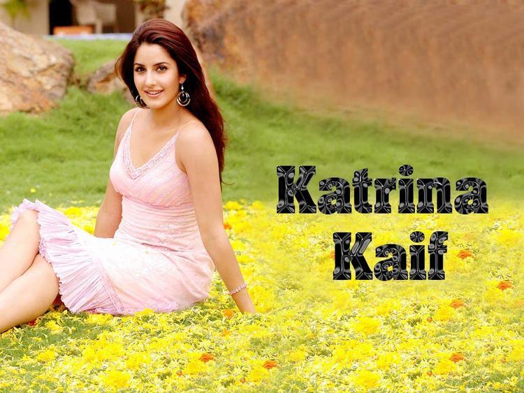 Glowing Babe Katrina Kaif Wallpaper In Pink Dress