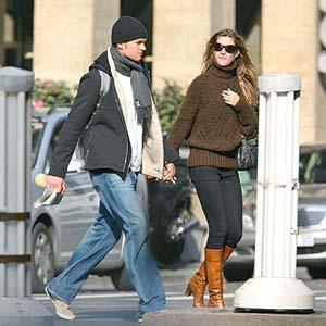 Gisele Bundchen and Tom Brady Stunning On Road