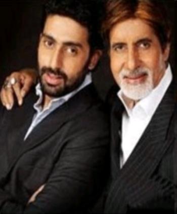Abhishek and Amitabh Poses To Photo Shoot