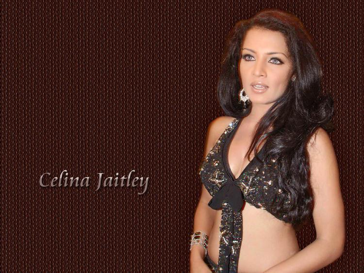 Celina Jaitley Sexy Black Dress Sexy Still