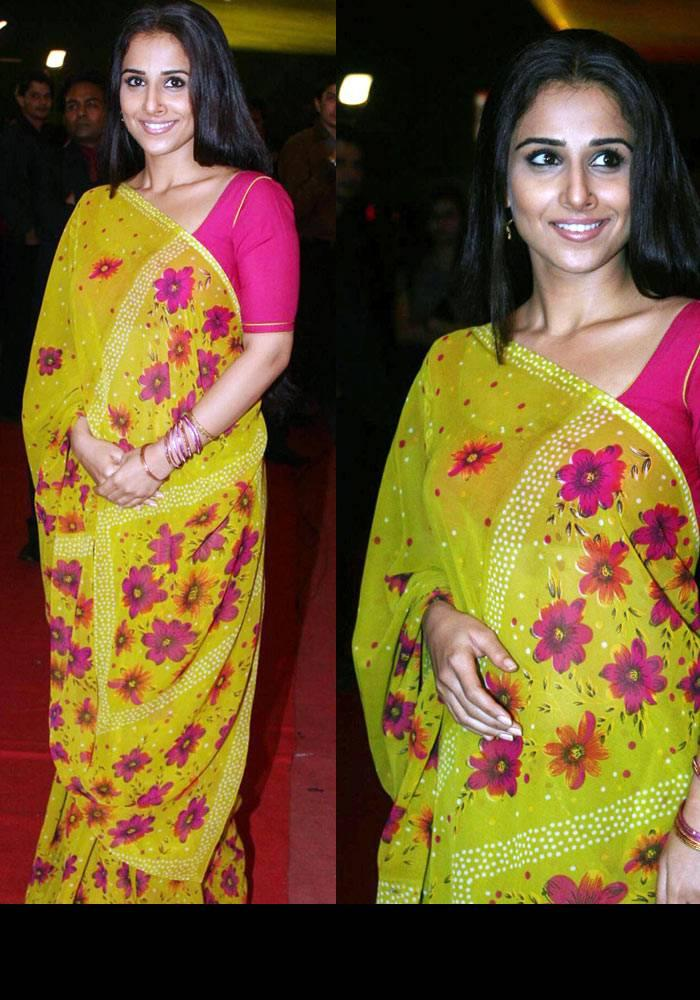 Saree Disaster Vidya Balan Stylist Look Stills