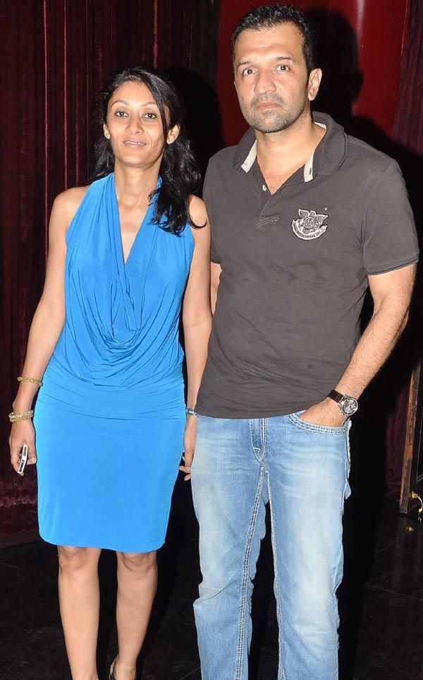 Atul And Wife Vandana At Aarti Surendranath Birthday Bash