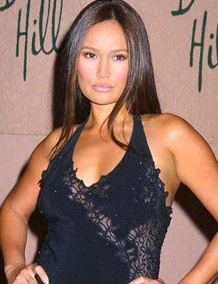 Tia Carrere Black Color Dress Hot Pic