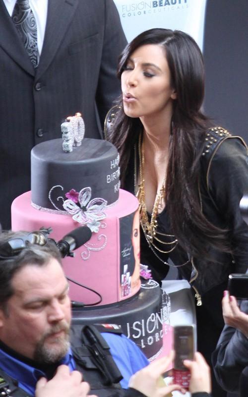 Kim Kardashian Celebrating Her Birthday