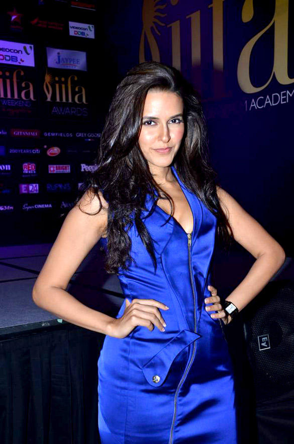 Neha Strikes a Pose During The Press Conference of Movie Maximum at IIFA