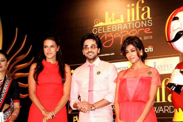 Chitraganda,Neha and Ayushman at Opening Weekend Press Conference of IIFA