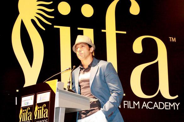 Farhan Akhtar Speaks During Opening Weekend Press Conference of IIFA