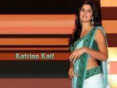 Katrina Kaif In Sexy Saree Hot Wallpaper