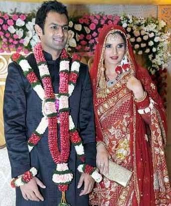 Beautiful Couple Sania Mirza and Shoaib Malik Wedding pic