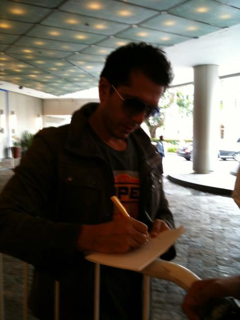 B Town Celed Autograph Pic at Singapore International Airport