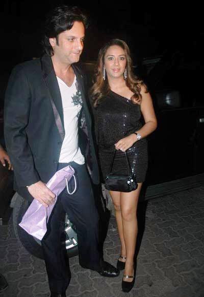 Fardeen With Wife Natasha Present At Jackky Bhagnani Birthday Bash