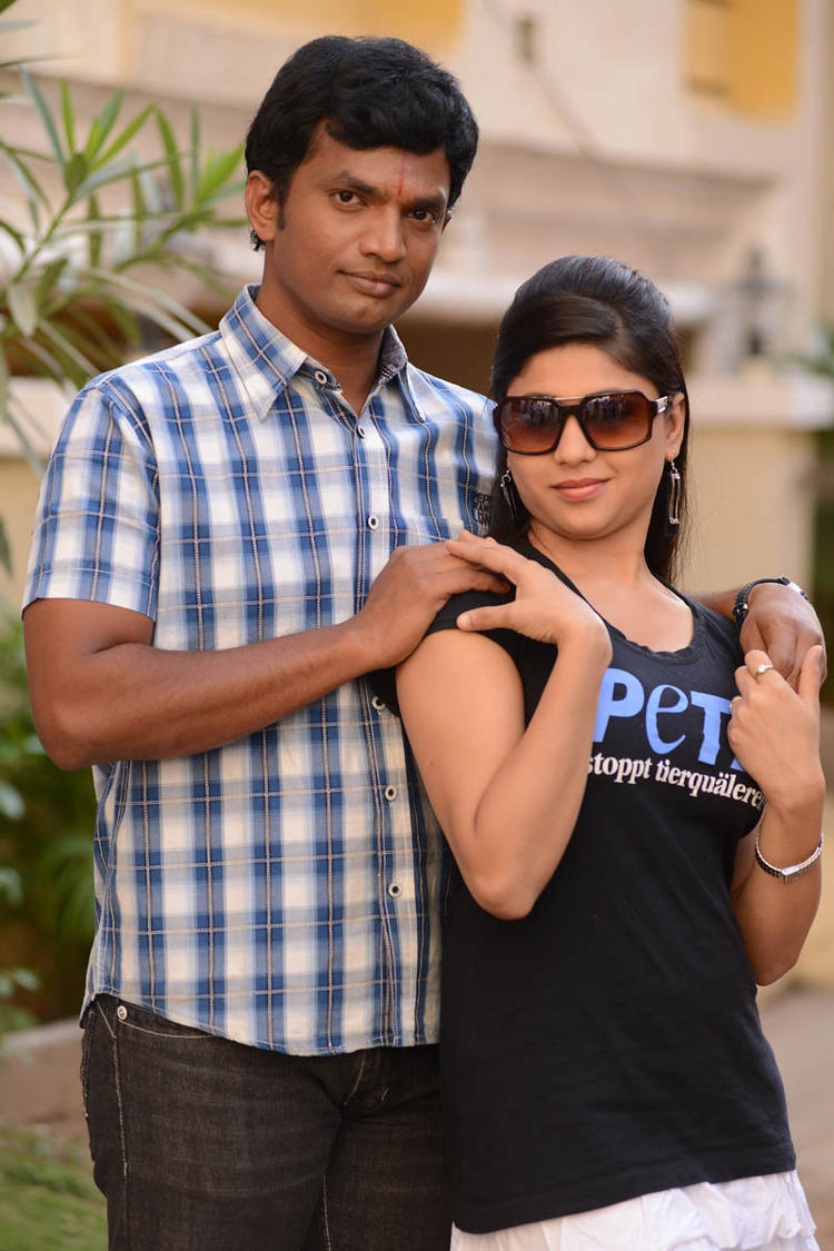 Seema Agarwal With Co-Star Nice Pose Photo From Movie Love Idiots
