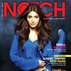 Anushka Dazzling Look On The Cover Of Notch Magazine January 2013 Issue