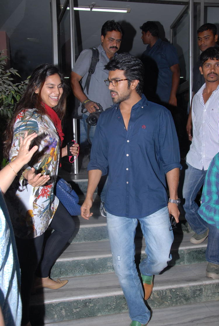 Ram Charan And Upasana Spotted At Nayak Movie Premier Show