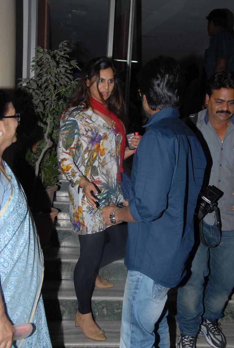 Ram Charan With Wife Upasana Spotted At Nayak Movie Premier Show