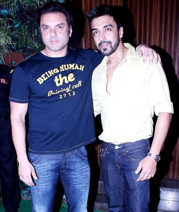 Sohail Khan With Ashish Chowdhary Posed At Mana Shetty Store Launch