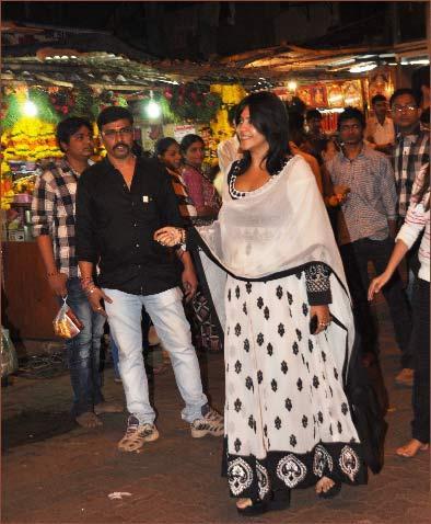 Ekta Kapoor Arrived At Siddhivinayak Temple For Puja
