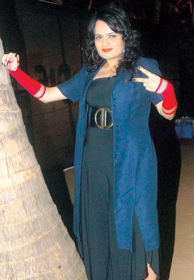 Aditi Singh Sharma Strikes A Pose At Luke Kenny's Promotions For Film Rise Of The Zombies