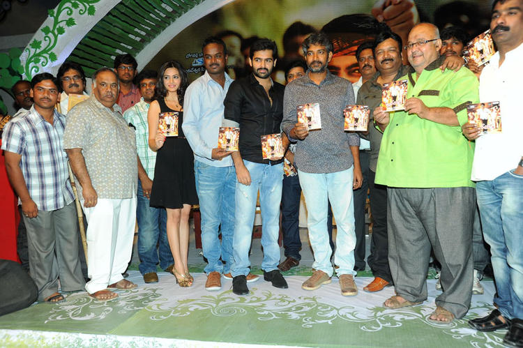 Ram,Kriti And S. S. Rajamouli At Ongole Gitta Audio Release Function