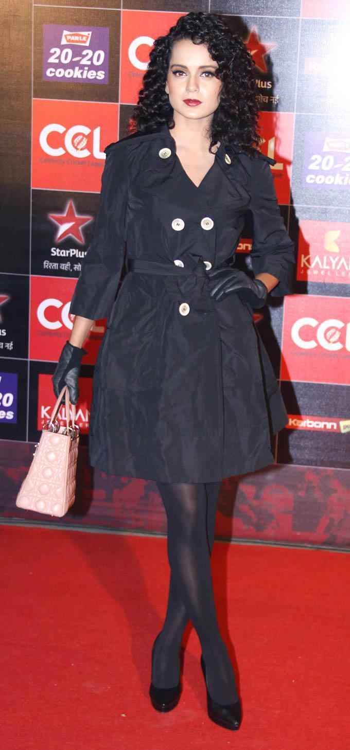 Kangana Ranaut Hot At The CCL Season 3 Red Carpet