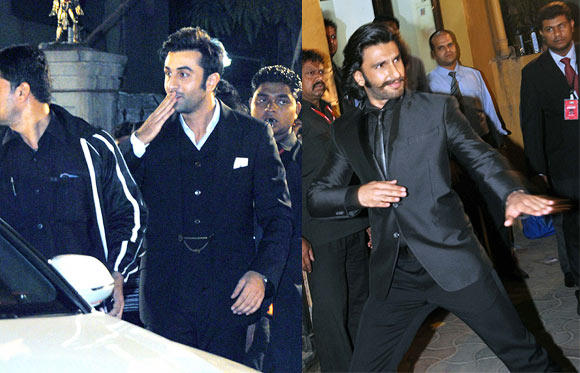 Ranbir Kapoor And Ranveer Singh Looked Dapper In Suit At Filmfare Awards 2013