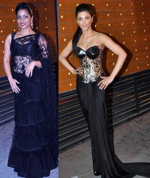 Shahana And Shruti Sizzling Hot Pose For Camera At Filmfare Awards 2013