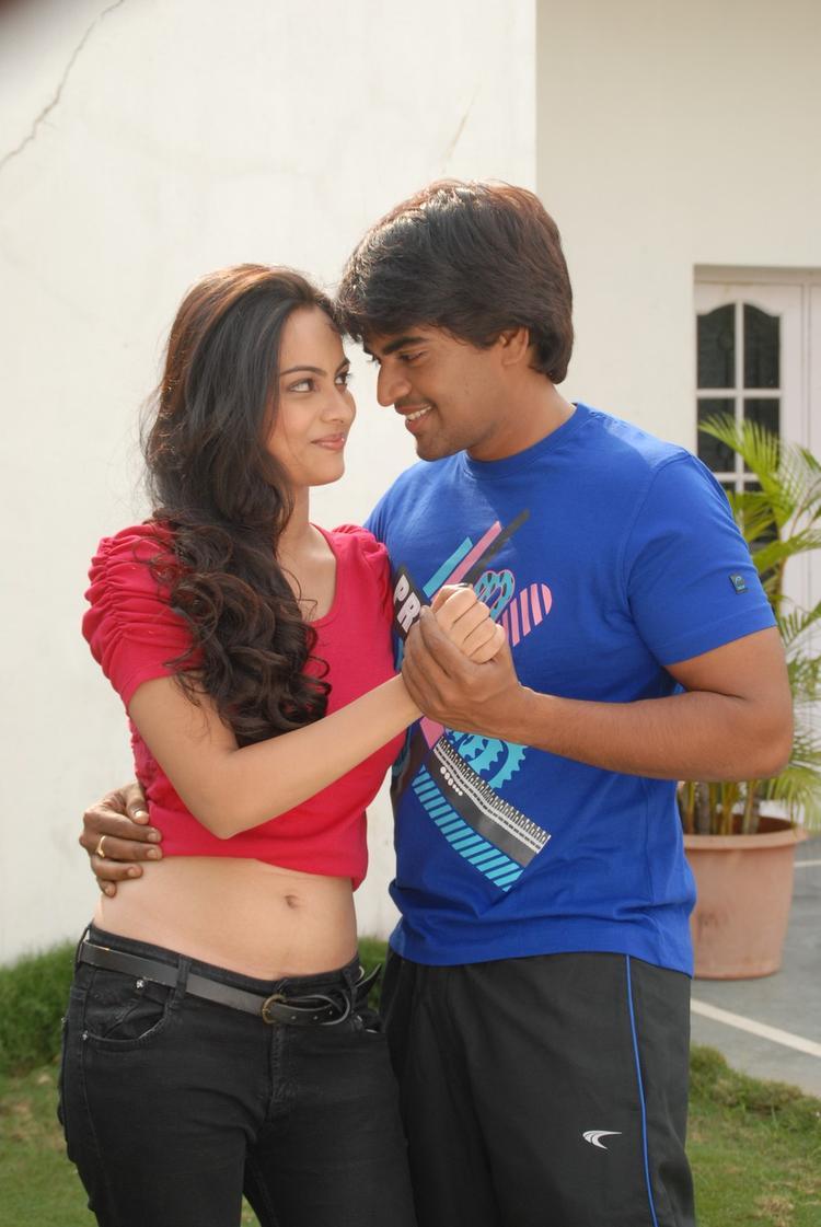 Srinivas And Simmi Hug Photo Still From Telugu Movie Churaka