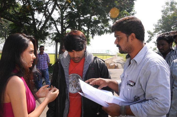 Srinivas And Simmi Photo Clicked In Location Of Telugu Movie Churaka
