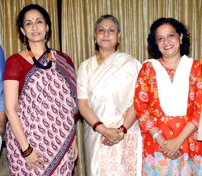 Jaya And Swaroop Pose For Camera At An Event Of Movie Saptapadi