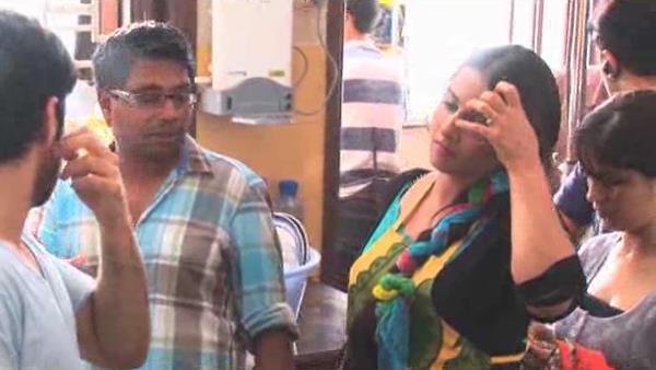 Emraan,Rajkumar And Vidya Disscurssion Snap Taken On the Sets Of Ghanchakkar