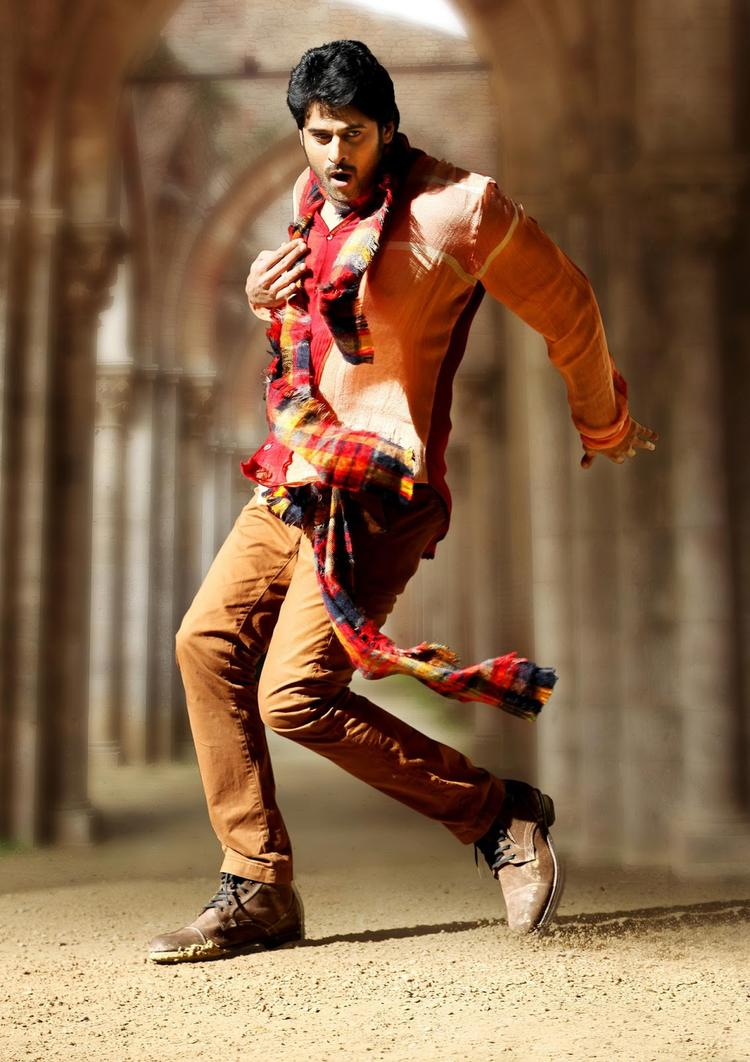 Prabhas Awesome Dancing Photo From Telugu Movie Mirchi