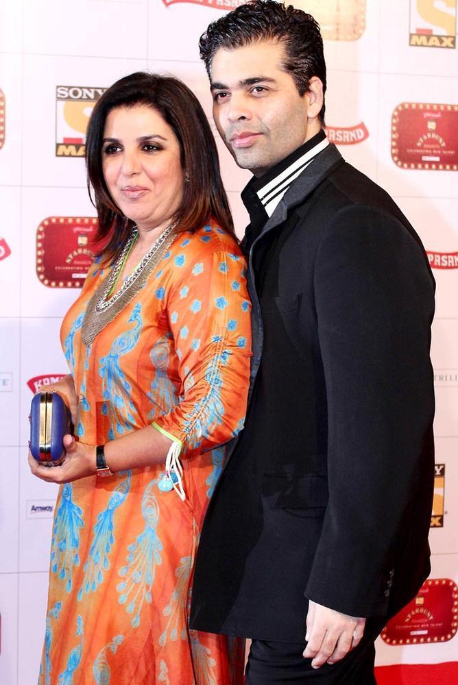 Farah And Karan Cosy Pose At Stardust Awards Function