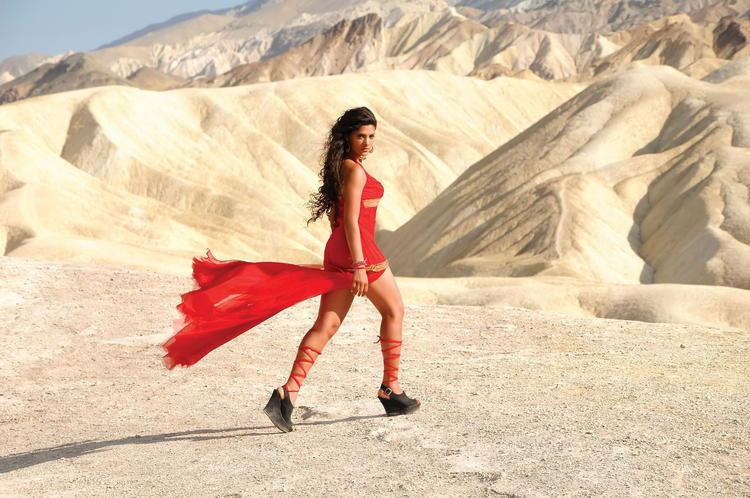 Amruta Looked Ravishing In A Red Ensemble In Telugu Movie Rey