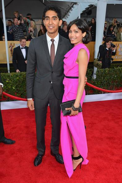 Freida Pinto And Dev Patel In Red Carpet During The 19th Annual SAG Awards 2013