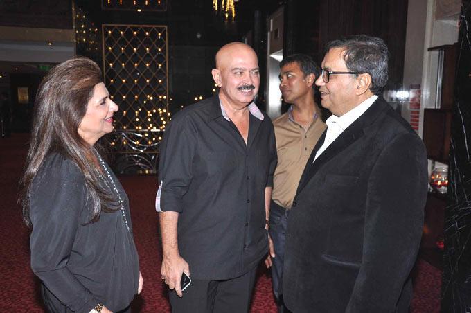 Subhash With Rakesh And Wife Pinky Smiling At Subhash Ghai Birthday Bash