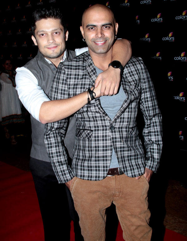 Siddharth And Rajiv Cool Pose In Red Carpet For Attend Colors 4th Year Celebration Party