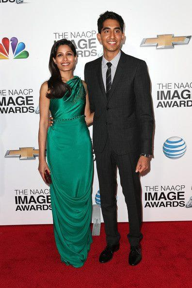 Freida Pinto And Dev Patel In Red Carpet At The 44th NAACP Image Awards