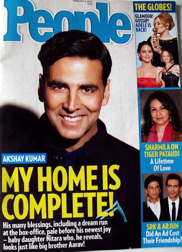 Akshay Kumar Smiling Look On The Cover Of People Magazine Feb 2013 Issue